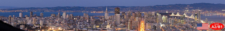 San Francisco Skyline bei Nacht Unterrichtsmaterial Landeskunde Lehrmittel